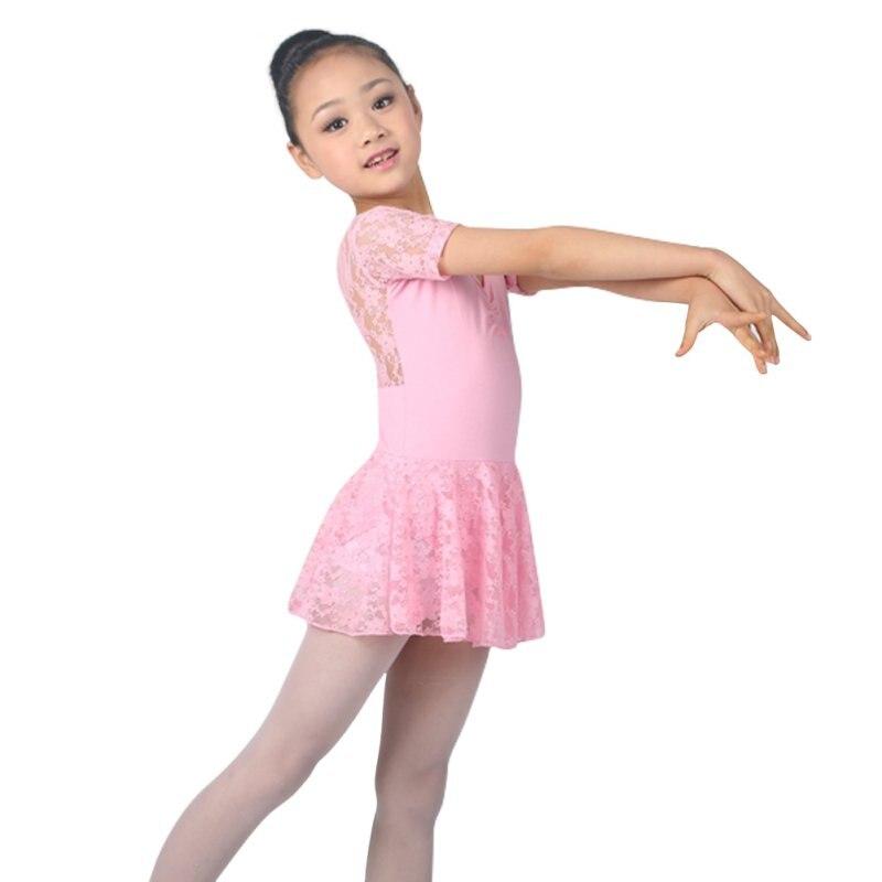 2018 New Girls Ballet Dance Dress Girl Dance Clothing Kids Ballet Tutu Gymnastics Dresses For Girls Lace Dance Leotard Costumes