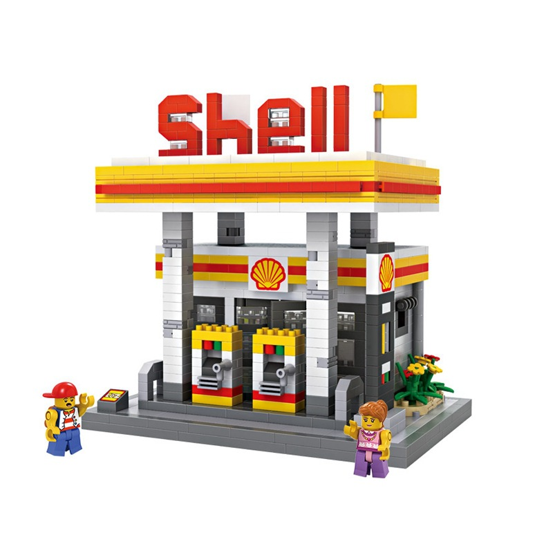 LOZ Gas Station DIY Building Bricks Blocks Toy Educational Kids Gift Toy brinquedos juguetes menino loz gas station diy building bricks blocks toy educational kids gift toy brinquedos juguetes menino