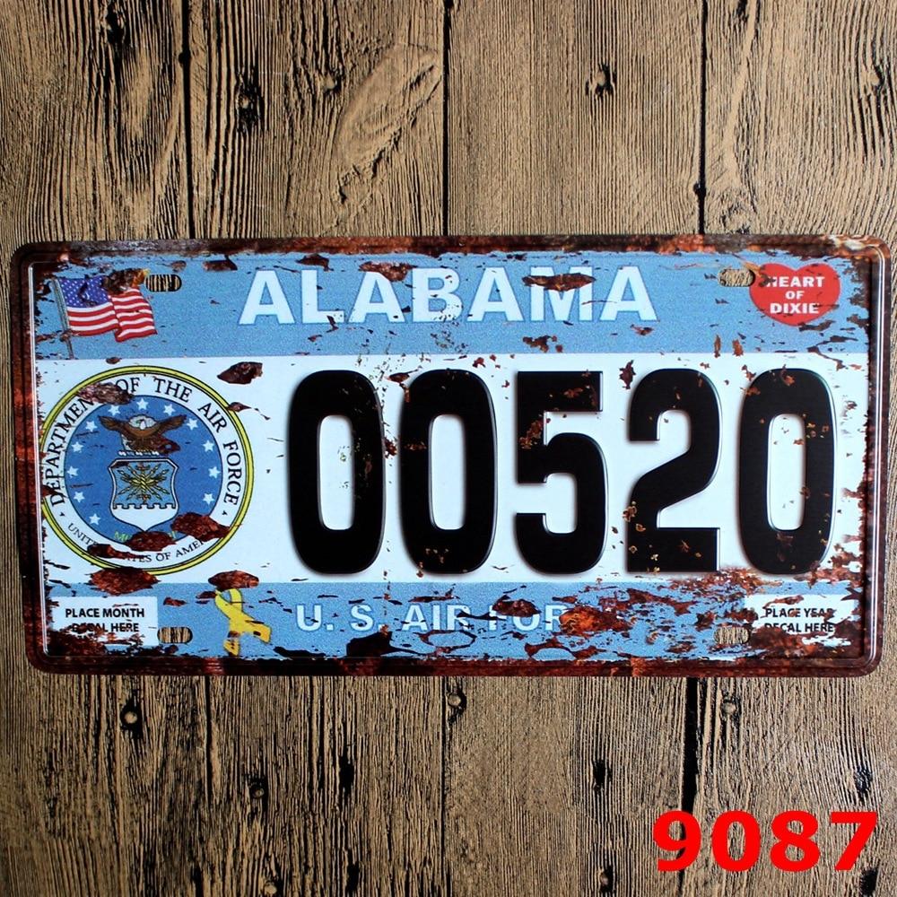 15x30 cm vintage license plates ALABAMA 00520 retro iron painting ...