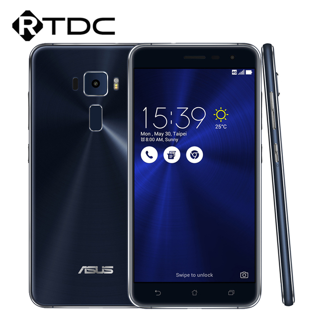 "Original ASUS Zenfone 3 ZE552KL Smart Phone 64Bit Octa Core Android 6.0 5.5""FHD 4GB RAM 64GB ROM 3000mAh 16.0MP Fingerprint"