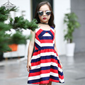 Summer Girls Dresses Cotton Casual Sleeveless Striped Kids Clothes For Girls Teenage Fashion Beach Dress Sundress Vestido