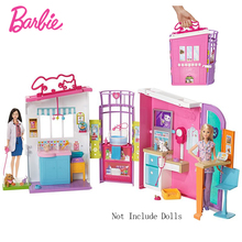 Original Barbie Doll Pet Care Center house Accessories Kit Cute Room Baby Girl Toys For Children Poppenhuis Casa de Bonecas