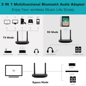 Image 5 - VIKEFON 80m Bluetooth 5.0 Transmitter Receiver 3 in 1 Wireless Audio Adapter for TV PC,aptX HD & apt X LL,Optical RCA AUX 3.5mm