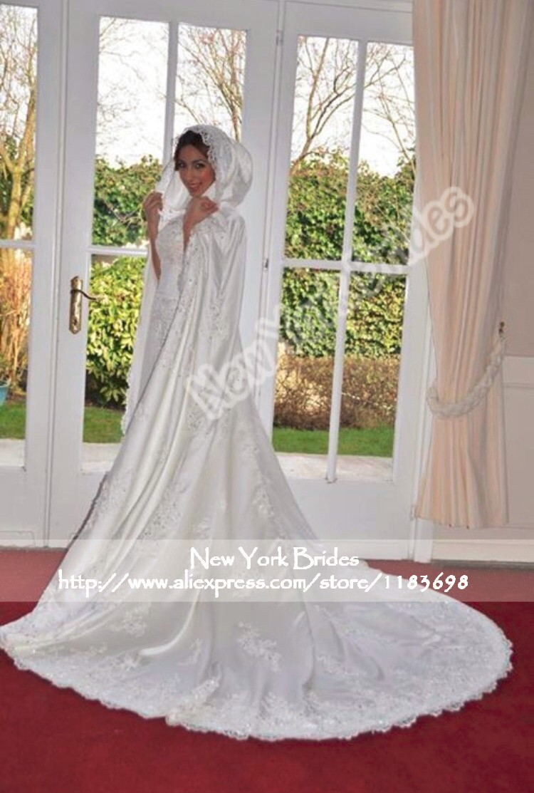 Buy winter white ivory wedding cloak cape for Wedding dress with cape train
