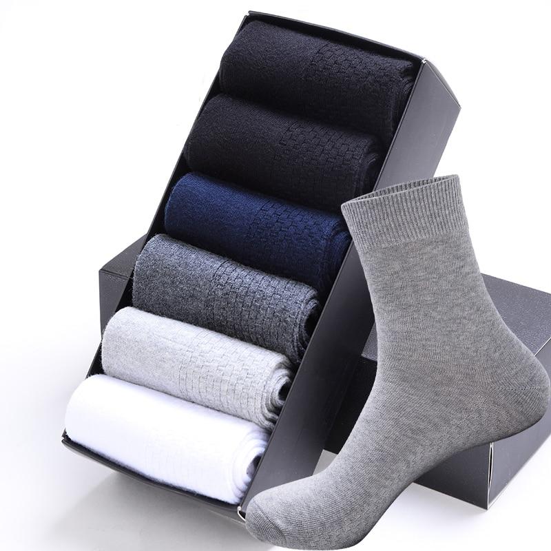 High Quality Casual Men's Business   Socks   For Men Cotton Brand Sneaker   Socks   Quick Drying Black White Long   Sock   5 Pairs Big Size