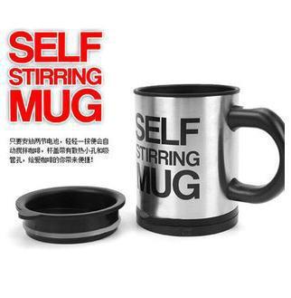Free shippping 60pcs/lot Automatic coffee cup stainless steel self stirring mug