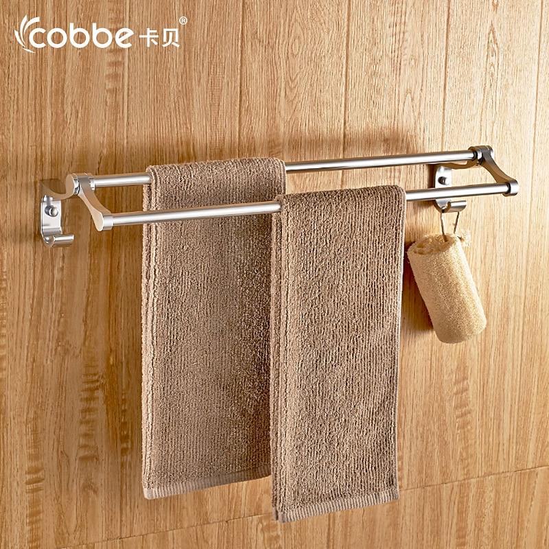 mirror aluminium double towel bar wall towel rail decorative bathroom accessories towel holder furniture for towel