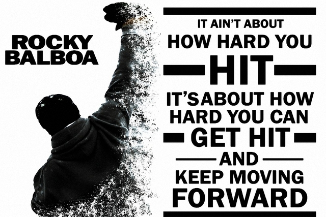 Inspiring Keep Moving Forward Quotes Pictures: DIY Frame Rocky Balboa Keep Moving Forward. Motivational