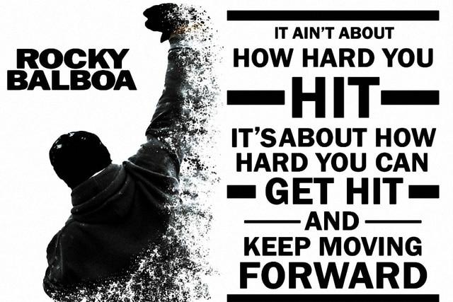 Keep Moving Forward Quote Pleasing Diy Frame Rocky Balboa Keep Moving Forwardmotivational