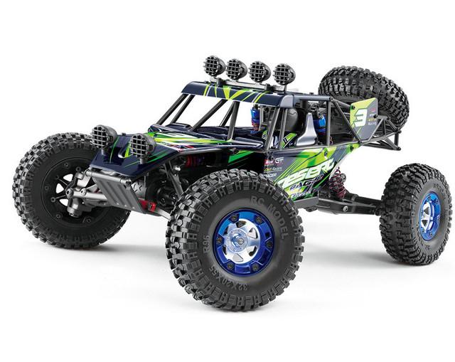 Nueva Cepillado Desierto de Roca Racer Rc Coche Escala 1/12 4WD Eléctrico Off-Road Truck 2.4 GHz Sistema de Radio