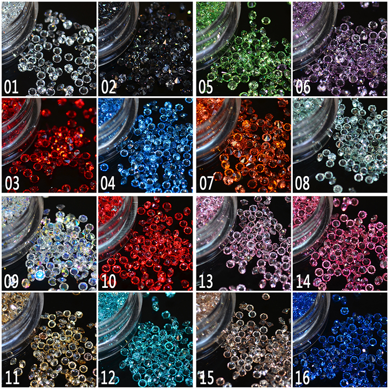 Hot selling 1 box/pack 5g 1.5mm Zircon Nail Rhinestones Nail Art Micro Rhinestones Mini Nail Rhinestones Manicure Decorations approx 300pcs box 1 2mm zircon nail rhinestones nail art micro rhinestones mini nail rhinestones manicure decorations 24125