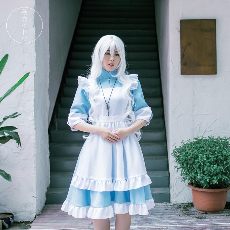 Free Post Anime MekakuCity Actors KAGEROU PROJECT Cosplay Cartoon Halloween Cos Kozakura Mari Marry Female Maid Costume