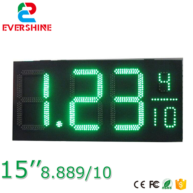 15 Inch 7 Segment Green Color Led Display 888910 Symbol Outdoor