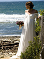 Eelgant Плюс Размер Чай Длина Пляж Винтаж Дешевые Беременных Женщин Свадебные Платья