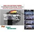 Para Faixas de Peugeot RCZ 2009 ~ 2015 Smart Chip Da Câmera/CCD HD Câmera de Visão Traseira Do Carro de Estacionamento Inteligente Dinâmica