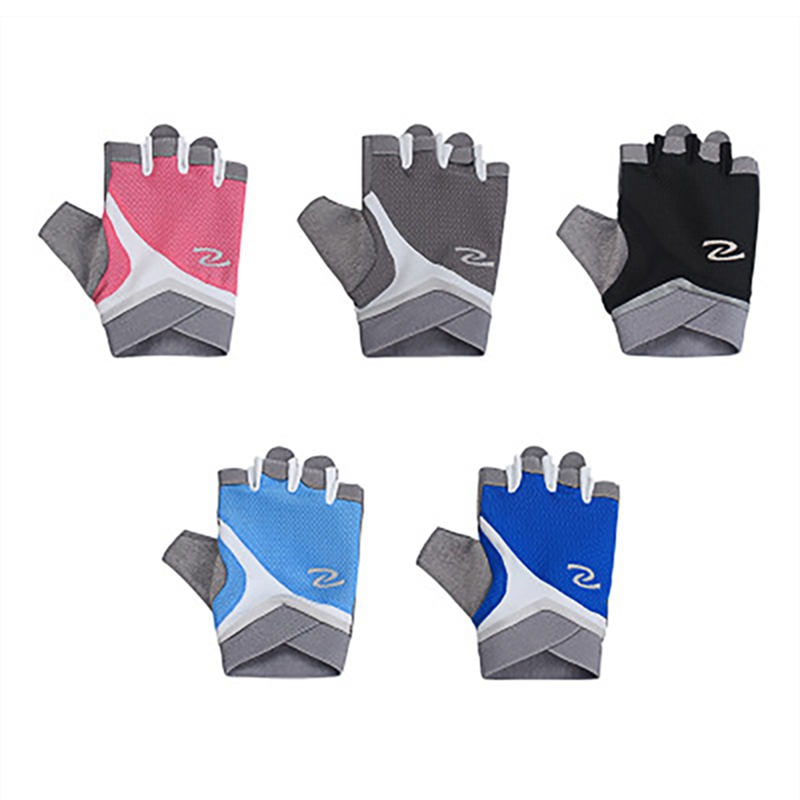 051180970a9413 Neueste Frauen Finger Radfahren Handschuhe Anti-slip Atmungsaktive Halb  Finger Moutain Reiten Fitness Gym Training Handschuhe