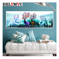 Special Shaped 5D Diamond Embroidery Animal Deer Full DIY Diamond Painting Cross Stitch 3D Diamond Mosaic Bead Picture Decor