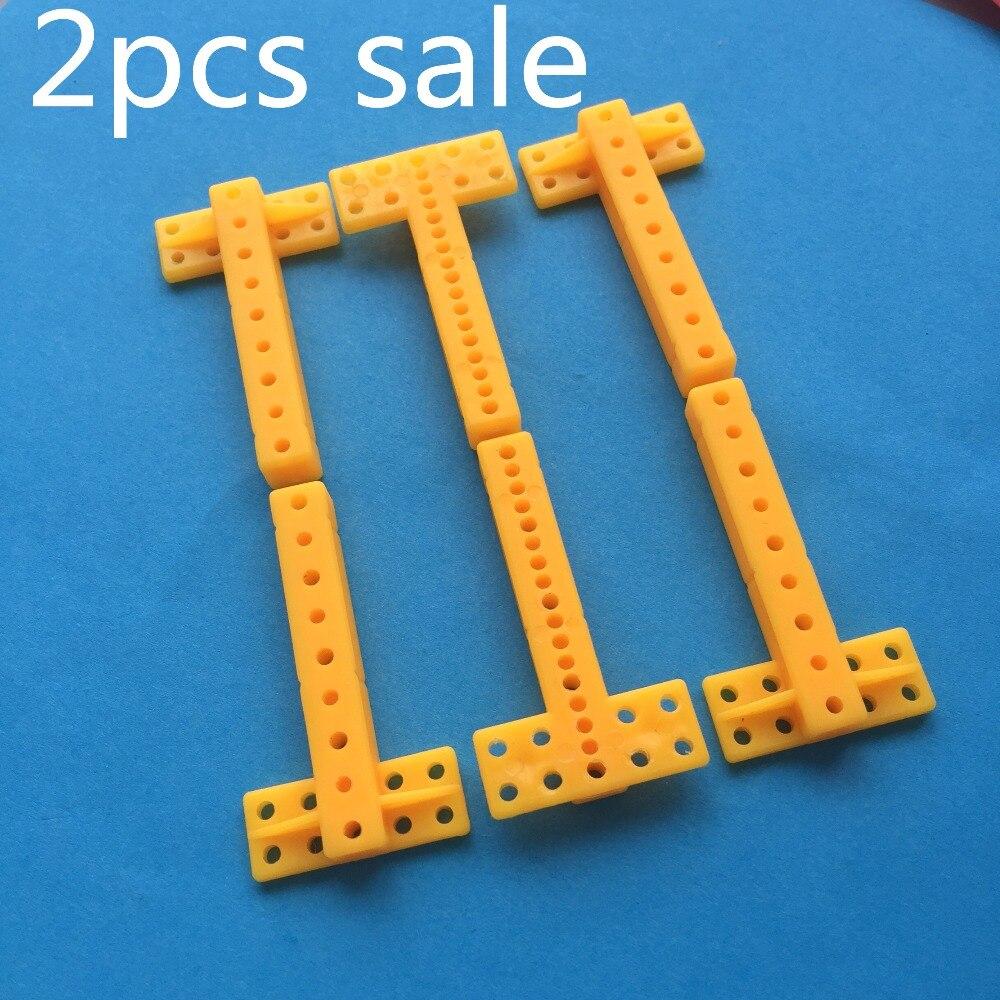 2pcs J377Y T-shaped Plastic Sheet Model Using Multi Holes Connecting Rod DIY Making Parts