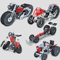 5in1 3d Metal Puzzles Model Game Jigsaw Building Kids Puzzle Educational Toy Baby Toys For Children