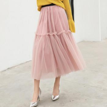 156bf13cf Faldas Maxi Casual de verano de mujer Polka Dot plisada de cintura alta  Falda larga acampanada ...