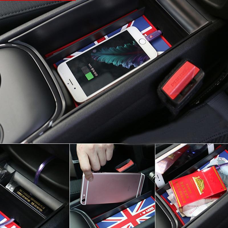 Console centrale de voiture ABS accoudoir boîte de rangement anti-dérapant tapis titulaire carte téléphone pour MINI Cooper One d JCW F60 Countryman accessoires
