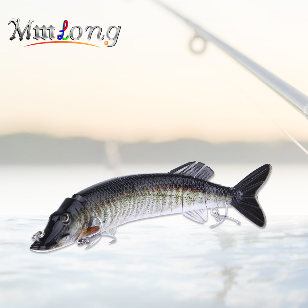 Mmlong 30.5cm Artificial Fish Lures Jointed Bait <font><b>Wobblers</b></font> AL15B 13 Segments Swimbait Hook Slow Sinking Hard Lure Fishing Tackle