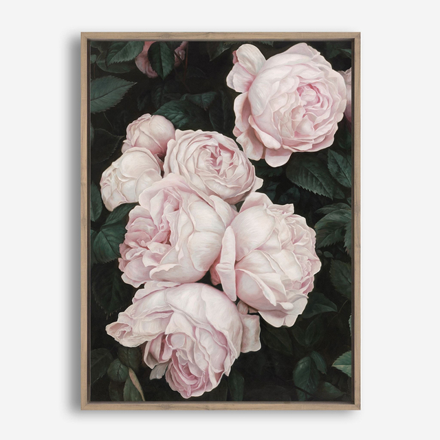 Pink Rose Canvas Painting 1