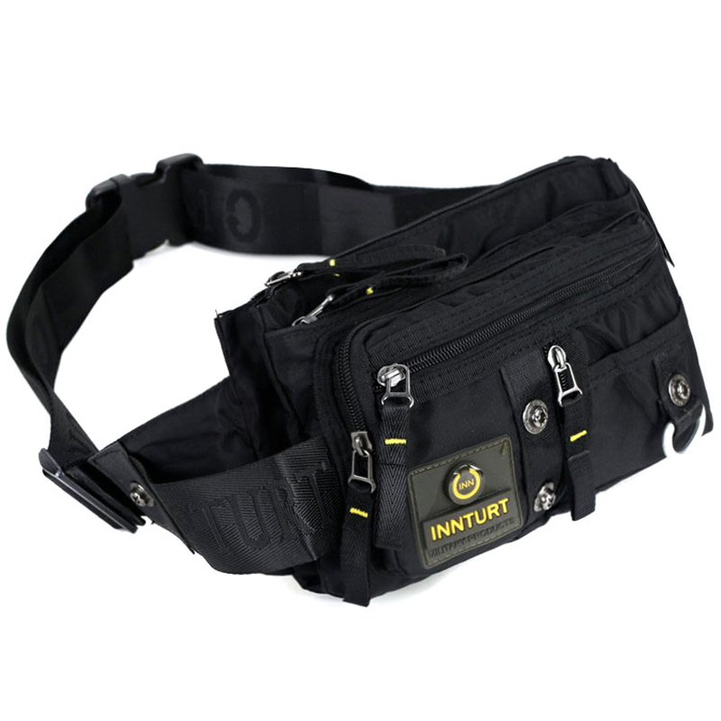 Bolsas de Peito Viagem de Alta Qualidade dos Homens Militar Loop Cinto Cintura Bolsa Moda Ombro Mensageiro Náilon Fanny Pacote Hip Bum