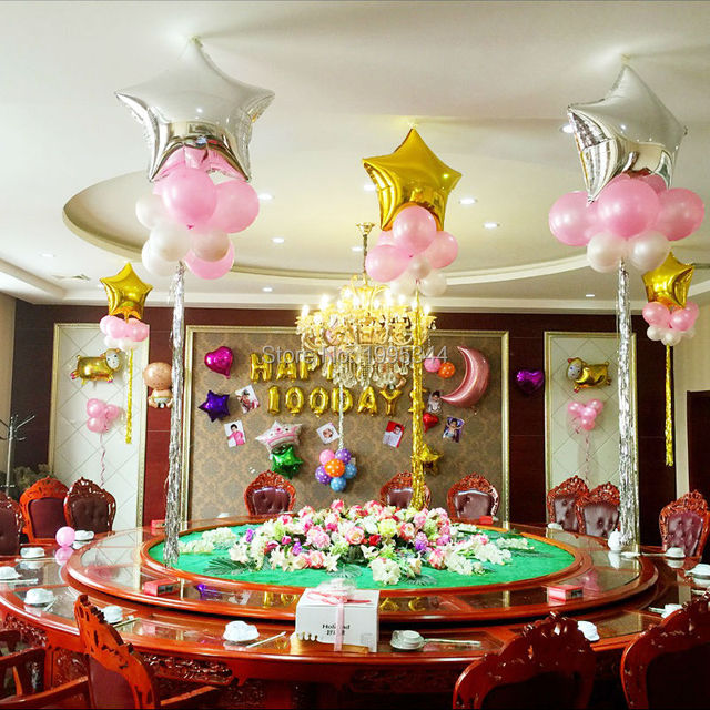 10pcs Birthday Party Balloon arrangement Balloon rain tassel marry