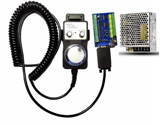 MACH3 5 Eixo 100 KHz Stepper USB cartão De Controlador de Movimento breakout board + 1 pcs volante + 1 pcs 24 V 1A poder suppl