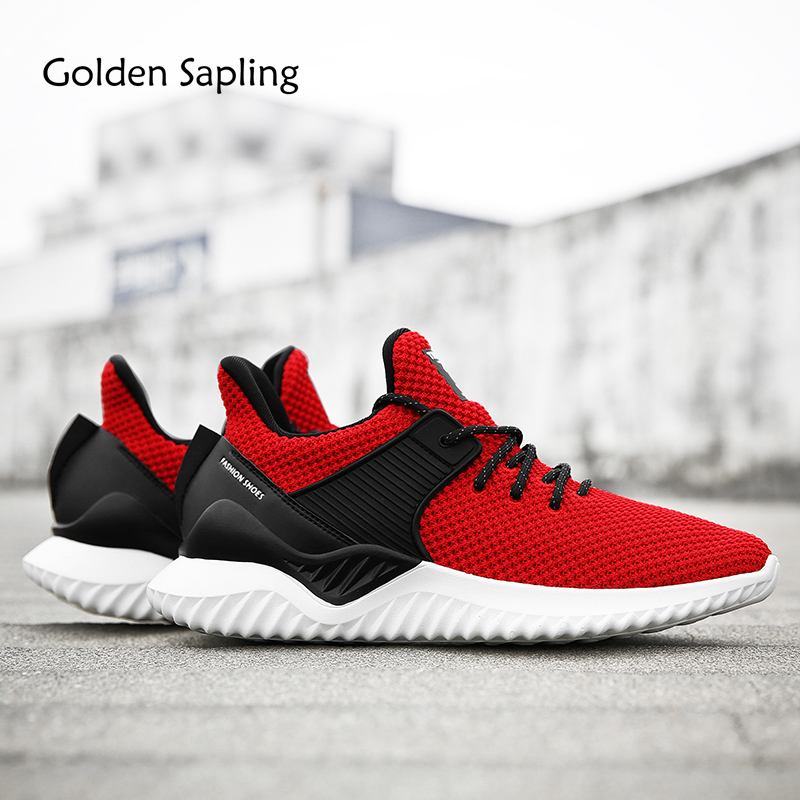 Golden Sapling New Man Sneakers Men's Running Shoes Breathable Air Mesh Fitness Men Sport Shoes for Male Trainers Men's Sneakers nike roshe run men air mesh breathable running shoes original new men outdppr sport sneakers trainers shoes