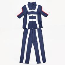 Boku nie bohater Academia AsuiTsuyu Yaoyorozu Momo Szkoła mundur mój bohater Academia OCHACO URARAKA Midoriya Izuku kostium Cosplay tanie tanio Costumes Spodnie Top Poliester MicroPlush Sets Unisex Anime Dorosłych