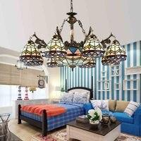 Kroonluchter Europese pastorale Mediterrane 8 hoofd creatieve persoonlijkheid woonkamer verlichting slaapkamer eetkamer verlichting