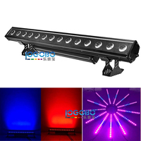 2Pcs/Lot 14x30W RGB 3in1 / RGBWA 5in1 LED Waterproof Wall Washer Up Lighting Flash Pixel Running Stage Bar Light IP65 Waterproof