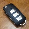 De Calidad superior Del Tirón 3 Botones Modificado Plegable Shell Dominante Alejado Fob Cubierta Para Kia Carens Nuevos