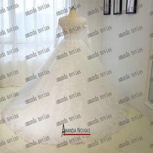 Image 3 - Vintage trouwjurk prinses baljurk volledige kant bruids jurk