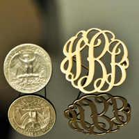 Pin de nombre personalizado, broches iniciales con monograma, alfileres de solapa con letras iniciales, broche de acero inoxidable personalizado