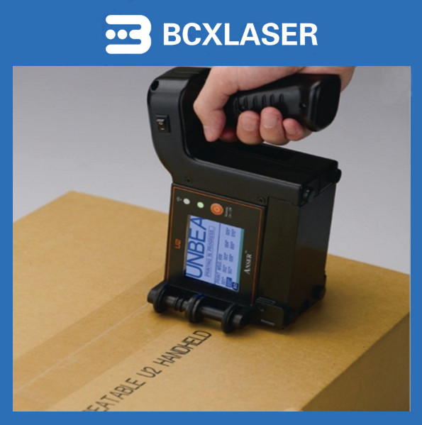 Handheld Printer marking concave cosmetic container basesHandheld Printer marking concave cosmetic container bases