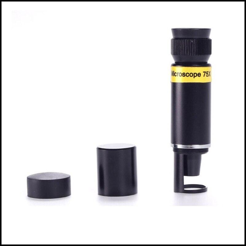 75x Pocket Mini Handheld Jewelry Microscope 75x Magnifier Monocular Jewelery Loupe Identification  цены