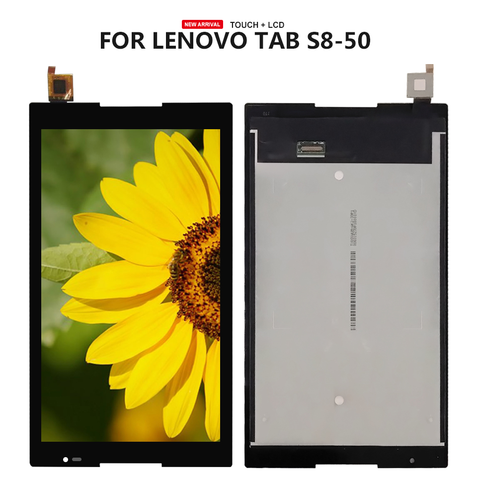 For Lenovo Tab S8-50F S8-50L S8-50LC S8-50 LCD Display Touch Screen Digitizer Glass Assembly Parts Free Tools