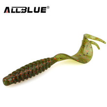 ALLBLUE Creek Single Tail Soft Bait 3.2g/82mm 8pcs/lot Biforked Grubs Silicone Fishing Lures isca artificial
