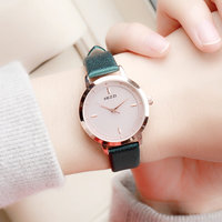 Top Luxury Women Watches Ladies Vintage Rose Gold Quartz Watch Women White Leather Wristwatch Female Famous