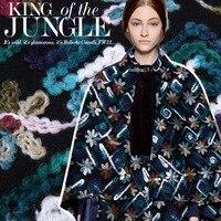 Casaco de Mohair cor dye bordado prato composto grosso tecido bordado pano de lã tecidos de lã atacado