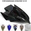 Лобовое стекло для мотоцикла Kawasaki Z250 Z300 Z 250 300 2013-2016  двойные Пузырьковые ветровые дефлекторы