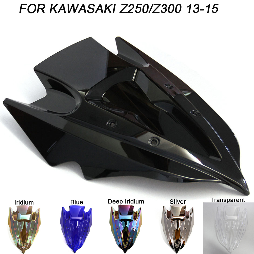 Windshield For Kawasaki Z250 Z300 Z 250 300 2013 2014 2013-2015 Double Bubble Windscreen Wind Deflectors Motorcycle Motorbike
