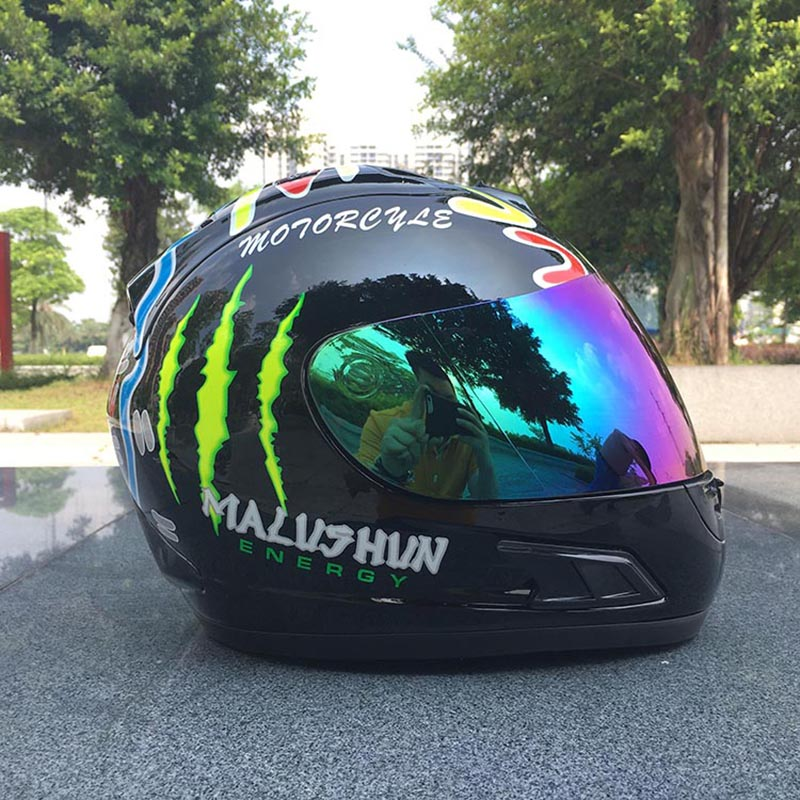 MALUSHEN predator helmet motorcycle racing helm full face motorbike helmets for men 2017 new yohe full face motorcycle helmet yh 970 double lens motorbike helmets made of abs and pc lens with speed color 4 size