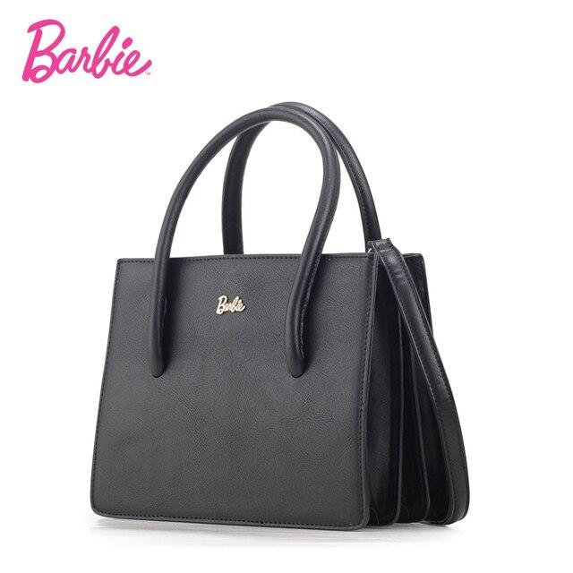 Barbie Women S Handbags Simple Style Black Leather Totes Las Handbag Fashion Bag Saffiano Bags Business