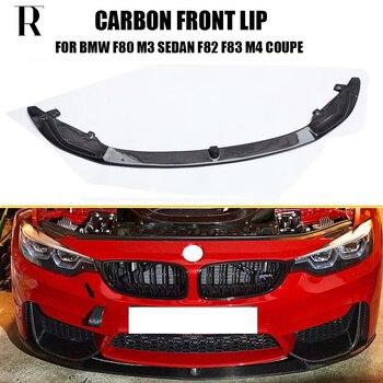 цена на F80 M3 F82 F83 M4 Carbon Fiber Front Lip for BMW M3 M4 2012 - 2019 Auto Racing Car Styling Front Bumper Lip Chin Spoiler