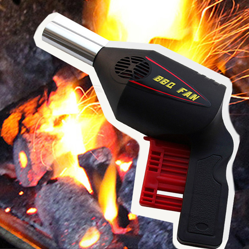 Portable Arbecue Outdoor Blower Barbecue Tool Hand Press Manual Blower BBQ Hair Dryer Camping Supplies BBQ fan Tools Air Blower in BBQ Grills from Home Garden