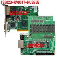 Carte contrôleur d'écran LED polychrome TS802D + RV901T + HUB75B, TS801 TS802 TS801D RV801 RV901 RV901T HUB75B